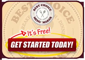 menu maker best choice restaurants directory